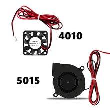 5015 4010 12V i 24V chłodzenie Turbo wentylator bezszczotkowy 3D drukarki części 2Pin do wytłaczarki DC Cooler dmuchawy część czarne plastikowe wentylatory