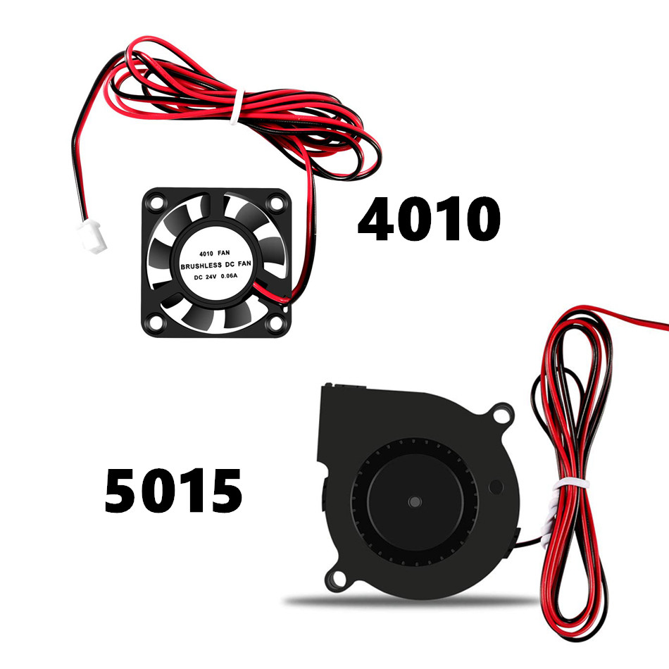 5015 <font><b>4010</b></font> 12V&24V Cooling Turbo Fan Brushless 3D Printer Parts 2Pin For Extruder DC Cooler <font><b>Blower</b></font> Part Black Plastic Fans image