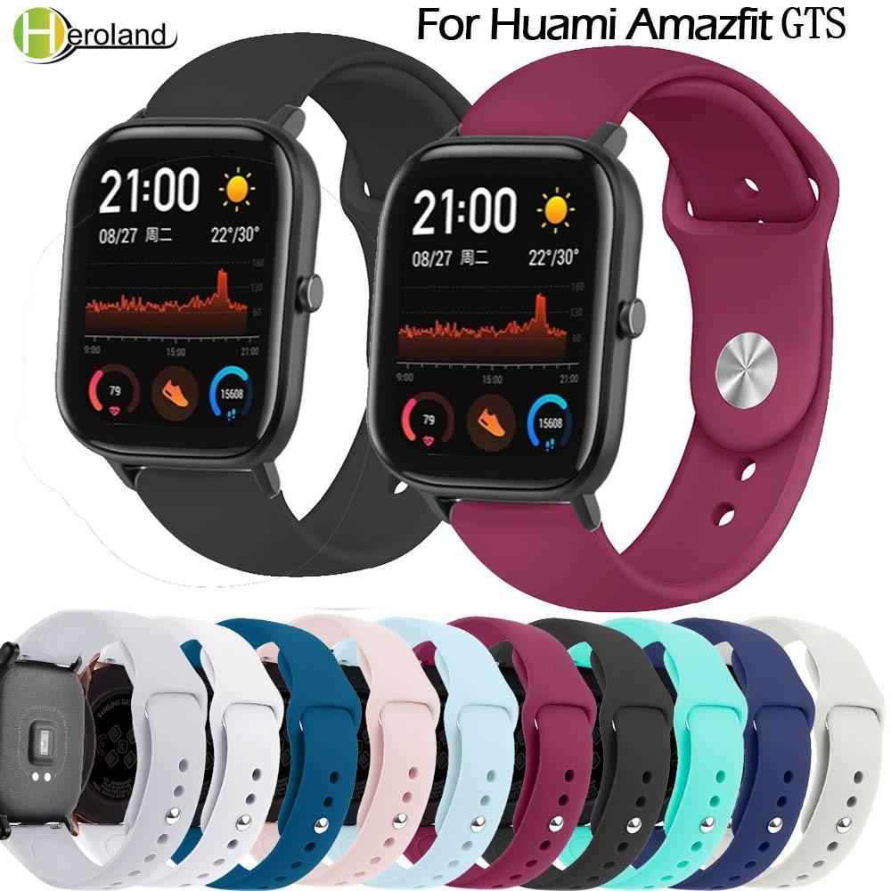 Hero Iand 20mm Silcone Watch Strap Bracelet For Xiaomi Huami Amazfit GTS Smart Watch Wrist Strap Replacement Wristband Bracelet