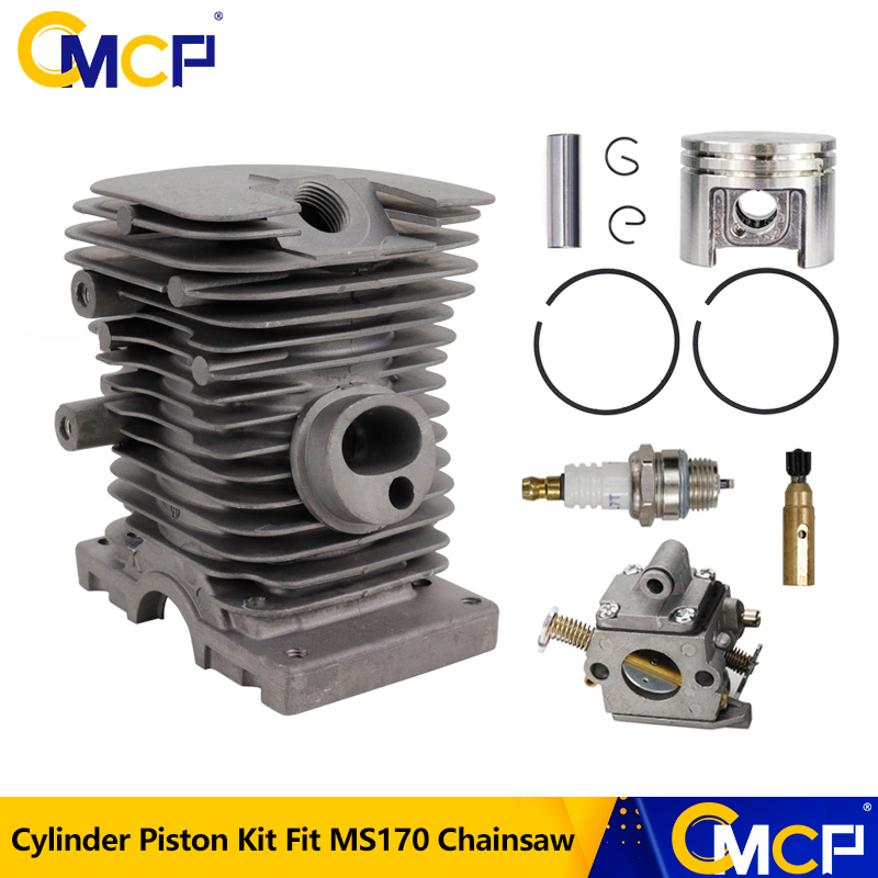 CMCP Cylinder Piston Carburetor Engine Kit for For Stihl MS170 Chainsaw Replacement Parts