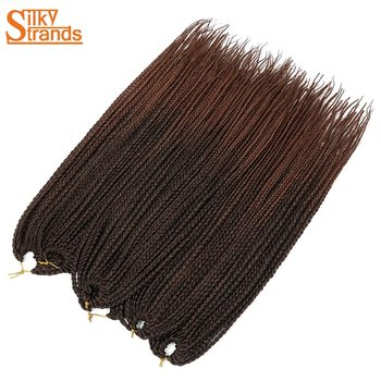 24 Inch Micro Crochet Box Braids Afro High Temperature Fiber Hair Extensions For Synthetic Braiding Pre Stretched - discount item  50% OFF Synthetic Hair