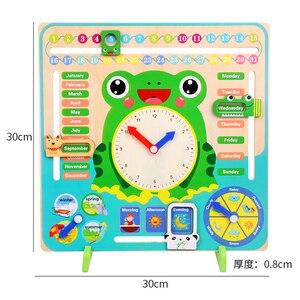 Image 5 - Montessori Giocattoli di Legno Del Bambino Meteo Stagione Orologio Calendario Cognizione In Età Prescolare Sussidi didattici Giocattoli Educativi Per I Bambini