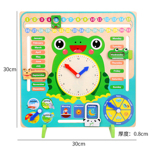 Image 5 - Montessori Wooden Toys Baby Weather Season Calendar Clock Time Cognition Preschool Educational Teaching Aids Toys For Children
