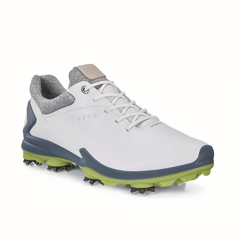 High Quality 2021 Golf Shoes Fixed Studs Non-slip Waterproof Breathable Men's Training Golf Sneakers Genuine Leather