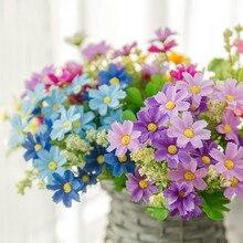7 horquillas Margarita gerbera artificial ramo de Flores para la casa jardín decoración boda DIY arcos Pared de Flores ramo de novia Flores