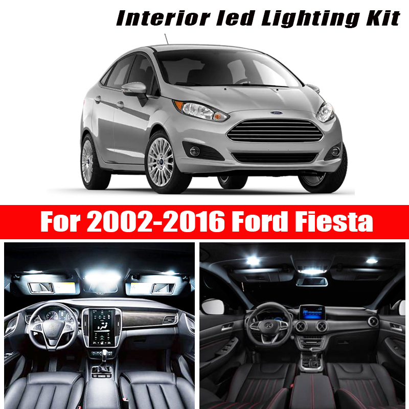 Perfect Error Free white LED bulb Interior Reading Dome light kit For 2002-2014 2015 2016 <font><b>Ford</b></font> <font><b>Fiesta</b></font> MK6 MK7 <font><b>Accessories</b></font> image