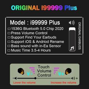 Original i99999 Plus TWS Wireless Earphone Air 2 Volume Control Bluetooth Earphones Super Bass Earbuds 1536G Chip PK i90000 MAX