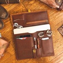 Мужской портативный портфель из натуральной кожи, мужская сумка для ноутбука, первый слой кожи, многофункциональные мешки-вкладыши