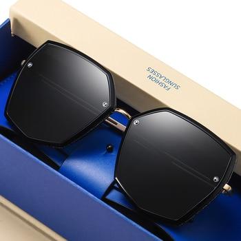Top Quality Polarized Sunglasses Women Designer New 2021 Trend Driving Sun Glasses For Women Vintage Travel Eyewear UV400 Shades 1