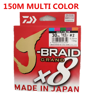 Image 4 - 2018 جديد دايوا J BRAID جراند X8 مضفر خيط صنارة الصيد PE الأخضر الداكن CHARTREUSE الأخضر متعدد الألوان المحرز في اليابان
