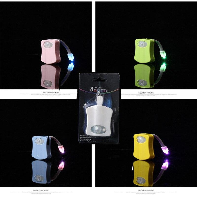 Night Lamp 5 Color White Blue Green Pink Green Motion Sensor Toilet Light