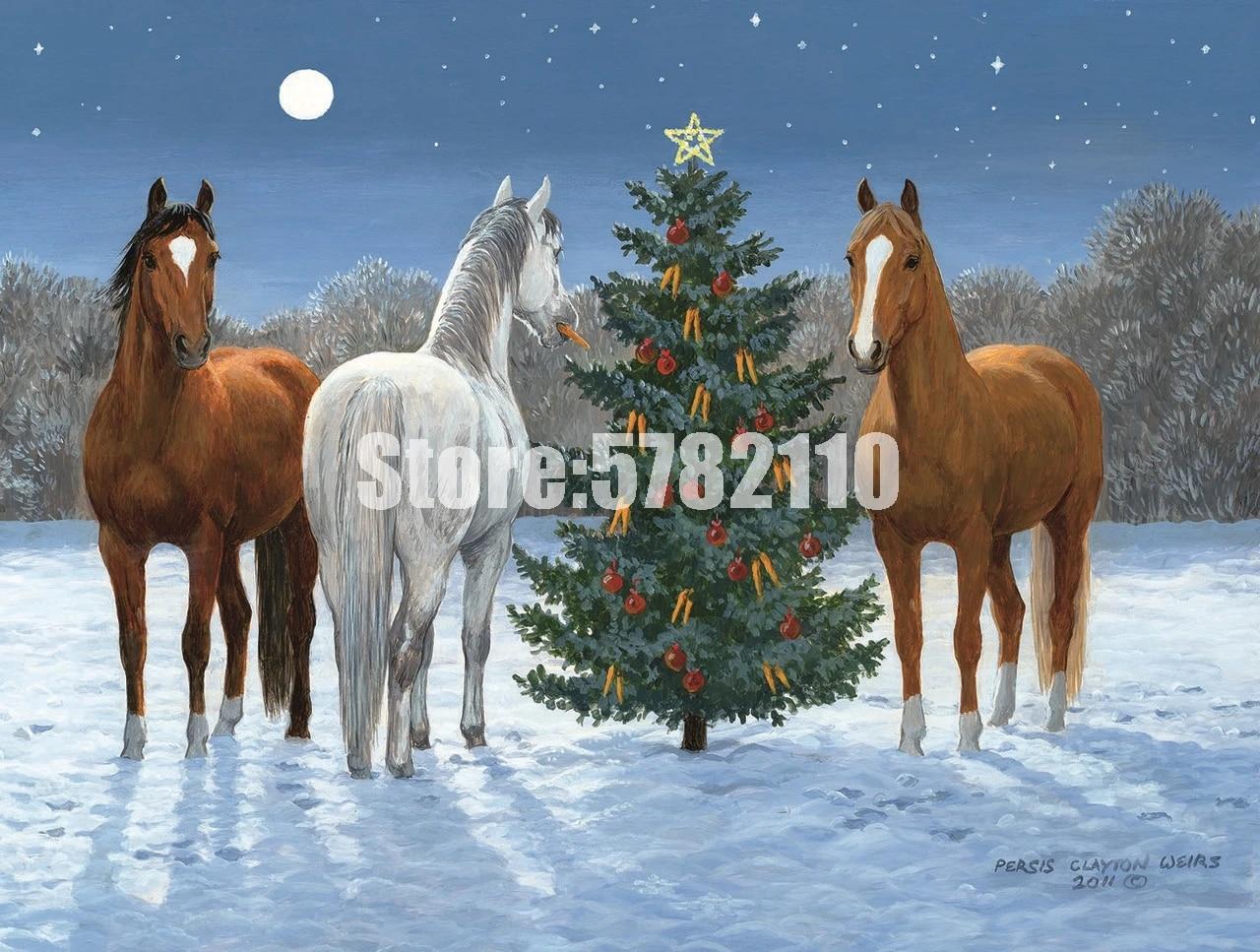 100 Full Diy 5d Diamond Painting Christmas Horses Winter Art Cross Stitch Diamond Embroidery Decoration Mosaic Home Decor Gifts Diamond Painting Cross Stitch Aliexpress