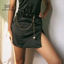 Женские металлические панковские штаны с цепочкой для женщин, однослойные ремни с золотой цепочкой на джинсах, женские брюки с серебряной цепочкой, 340