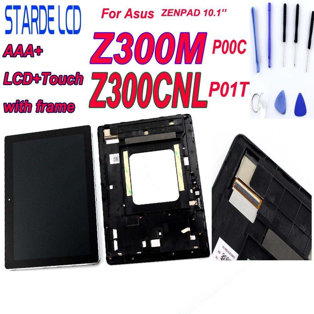 Nouveau LCD pour Asus Zenpad 10 Z300M P00C Z300CNL P01T LCD écran tactile numériseur assemblée avec pièces de réparation de cadre