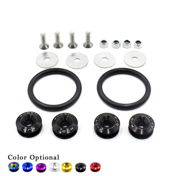 Universal JDM Aluminum Bumper Quick Release Fasteners Fender Washers For Honda Civic Integra RSX with Logo/without logo image