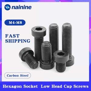 DIN7984 M3 M4 M5 M6 M8 M10 M12 Grade 8.8 steel Black Hex Hexagon Socket Thin Low Short Profile Head Allen Cap Screw Bolt B166