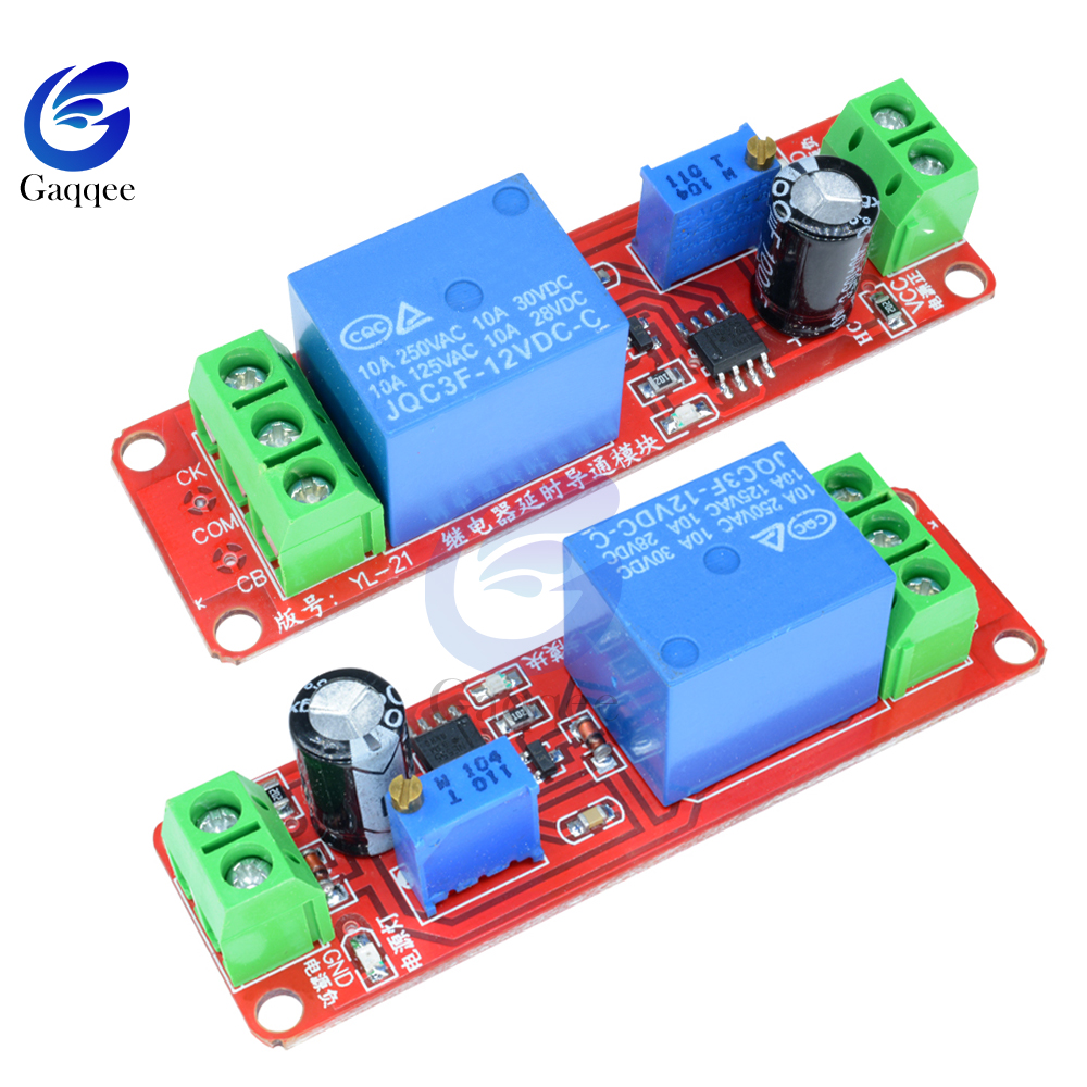 Adjustable time Delay Turn on Switch Ne555 Timer Control Relay 10A Module Board