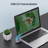 עבור מחשב USB קורא כרטיסים Ugreen 3.0 סוג C כדי SD Micro SD TF מתאם עבור מחשב נייד אביזרים OTG Cardreader חכם זיכרון SD Card Reader (5)
