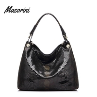 Ladies Large Shoulder Bag Snakeskin Pattern Luxury Women Bag Designer Handbags Women Famous Brands Tote Bag