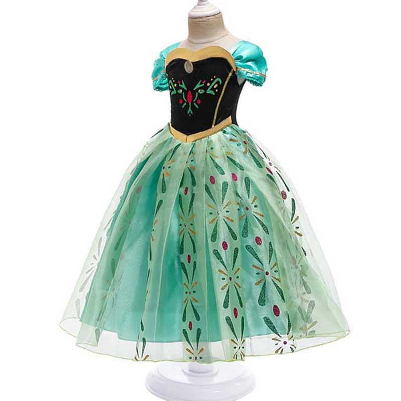 Princess Little Girls Cosplay Summer Flower Dresses Girl's Snow Queen Dress Clothing Baby Kids Beauty Princess Clothes Customes 6