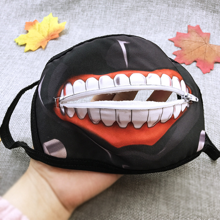 Tokyo Ghoul Zipper Mask  Winter Mouth Face Mask  Dustproof Mask Anime Cosplay  Halloween Gifts