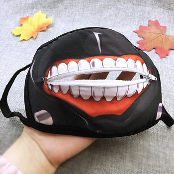 Tokyo Ghoul Zipper Mask  Winter Mouth Face Mask  Dustproof Mask Anime Cosplay  Halloween Gifts hot selling animated image soft bag tokyo ghoul mask printing zipper closure boys messinger cartoon backpack