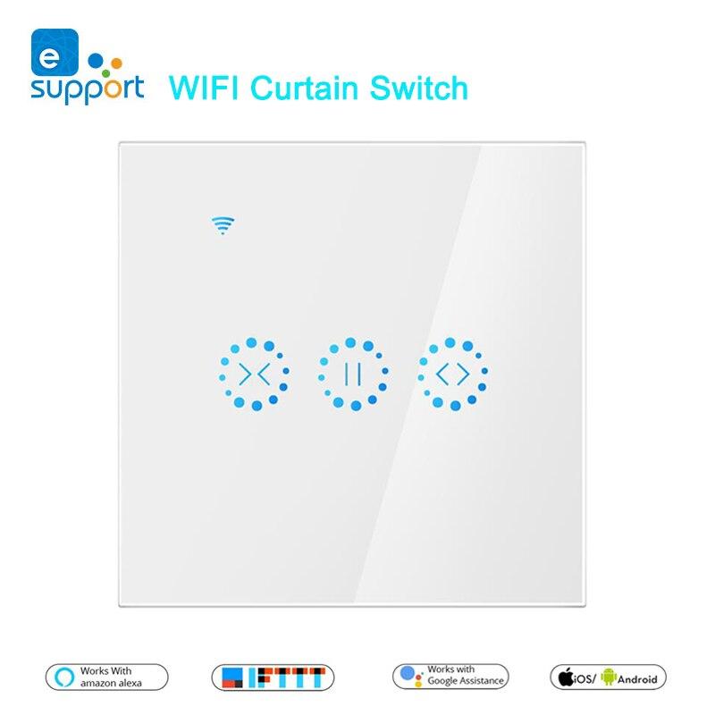 EWeLink-interrupteur intelligent pour rideaux, disponible en WiFi, pour volet roulant motorisé, disponible sur commande vocale Alexa