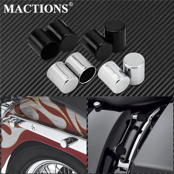 4pcs Motorcycle Docking Hardware Point Cover For Harley Touring Road King Street Glide FLHR FLHX Sportster XL883 Softail Dyna motorcycle 1 25 monkey ape handlebar 12 14 16 rise for 1996 2018 harley davidson softail sportster dyna 1998 2013 road glide