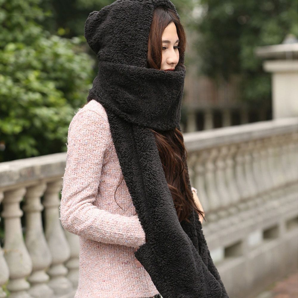 New Female Autumn And Winter Hat Scarf Gloves Three-piece Korean Version Of The Tide Wild Students Winter Thick Warm Hat Winter
