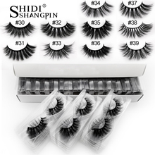 Faux cils en vison naturels longs, faits à la main, extensions 3d, maquillage, 20/30/40/50/100 paires, en vrac, vente en gros