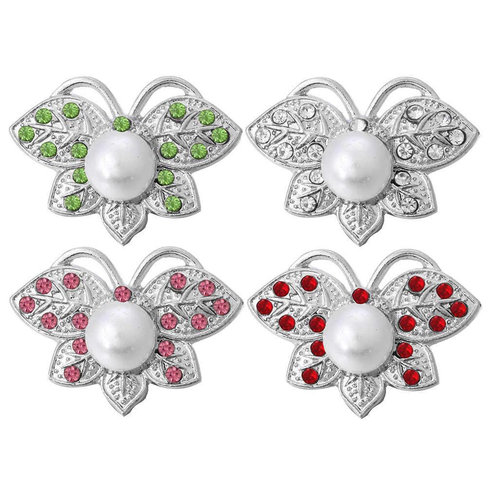 5 pièces/lot nouveau 18mm Snap bijoux strass cristal perle papillon 18mm boutons pression ajustement bouton pression Bracelet collier