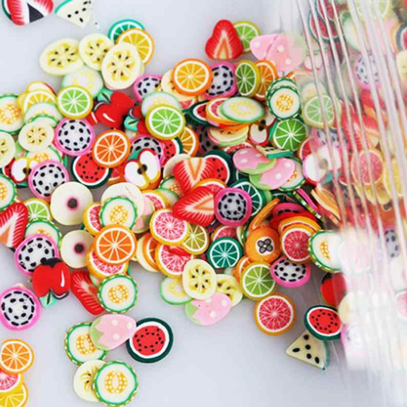 Tranche de fruits 1000 pièce 19 Styles Nail Art fruits/fruits/tranches/breloques Slime/Slime/argile polymère, MYUu21221112