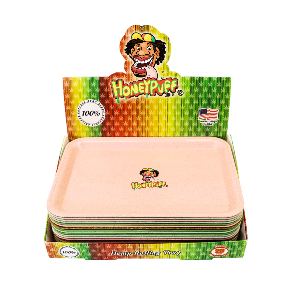 HONEYPUFF Degrading Material Tobacco Rolling Tray For Rolling Paper Plate Spice Cigarette Smoke Storage Smoking  Accessories 6