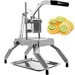 Commercial Onion Slicer With 3/16 Blades Average Force Even Cutting Silver