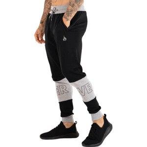 Image 2 - Pantalon de sport pour homme, pantalon de Fitness pour jogging, en coton extensible, vêtement Slim pour entraînement, automne, décontracté
