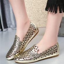 Frauen Beleg Auf Echtes Leder Wohnungen Ferse Gladiator Sandalen Weiblichen Hohle Runde Toe Loafers Low Top Plattform Oxfords Casual Schuhe