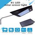 Солнечный Ночной светильник  мощный уличный светильник IP65 1000 люмен 81/110 светодиодов  уличный солнечный светильник с датчиком движения  солн...