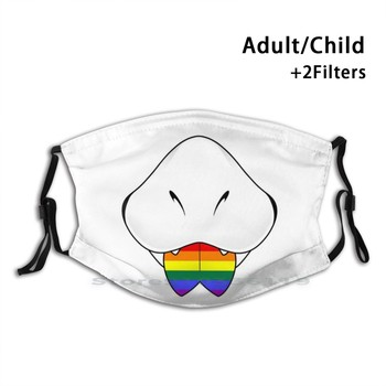 Gay Prideblep ( Scalie ) Mouth Print Reusable Pm2.5 Filter DIY Mouth Mask Kids Furry Furries Pride Lgbt Lgbtq Queer Gay Flag image