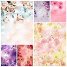 Laeacco Newborn Backdrops Butterfly Flowers Bokeh Baby Shower Photography Backgrounds Birthday Photozone For Photo Studio Props