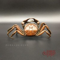 Retro paste, solid brass, large size crab, home decoration