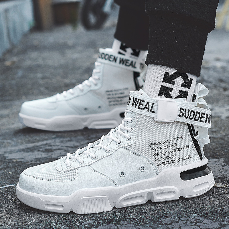 Image 5 - YRRFUOT 2019 Autumn New High Top Men's Casual Shoes Brand Fashion Comfortable Sneakers Men High Quality Original Trend Men Shoes-in Men's Casual Shoes from Shoes