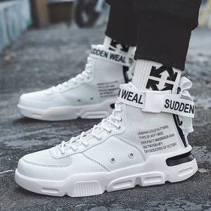 Image 5 - YRRFUOT 2019 Autumn New High Top Mens Casual Shoes Brand Fashion Comfortable Sneakers Men High Quality Original Trend Men Shoes