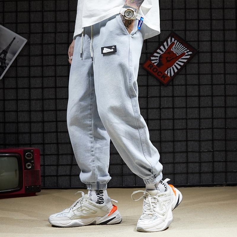 Fall 2019 New Retro Jeans Men Loose Students Korean Boys Toe Pants Ins Wide Leg Pants Men's Pants