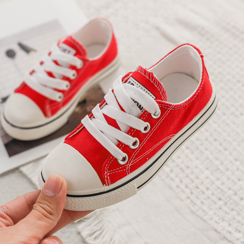 Children Shoes 2020 New Fashion Canvas Shoes Boys Girls Light Casual Shoes Non-slip Wearable Baby Sneakers  For School