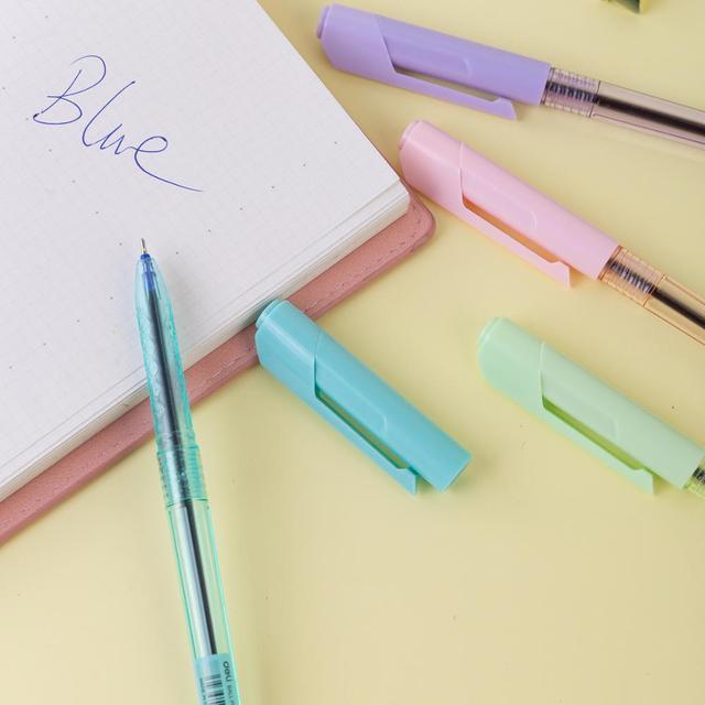 DELI Ball Point Pen 4 Pcs/Bag Color School Ballpoint Pen Mini tip 0.7mm EQ03032 3