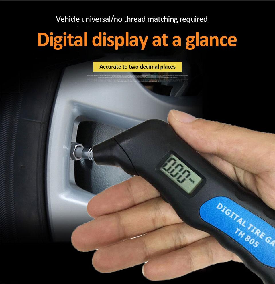 LCD Digital Tire Tyre Air Pressure Gauge Tester Tool For Auto Car Motorcycle  GA