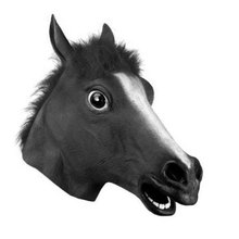 Horse Head Mask Halloween Toys Latex Cosplay Novel Costume Prop Zoo Party Animal