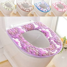 Cushion Warmer Toilet-Seat-Cover Closestool Bathroom Soft Cover-Pad Washable Mat
