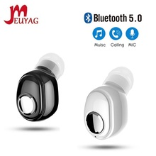 MEUYAG 2021 New Cute mini Bluetooth Earphones Ear-Hook Wireless Headphone Sport Gaming Headset with Mic For all smartphone