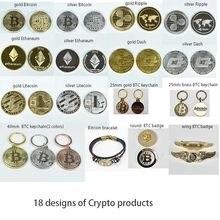 Pièce de monnaie en forme de Bit, plaquée or, en forme de Litecoin, Ethereum, pièce de Collection, en métal, pièce commémorative, 40mm
